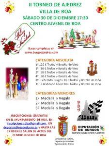 II torneo de Navidad Villa de Roa @ Salón de actos del centro juvenil de Roa